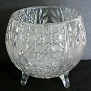 SALE American Brilliant Period Footed Rose Bowl