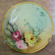 SALE Hermann Ohme Silesia Hand Painted Floral Plate