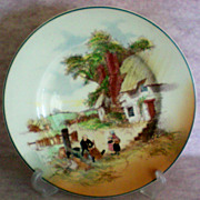 """SALE Royal Doulton County Scene Rack Plate """"Mending Rush-Seated Chair"""""""