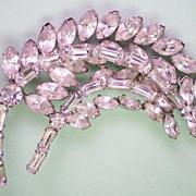 SALE Sparkling Clear Crystal Rhinestone Brooch