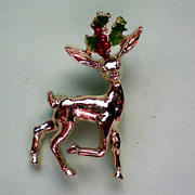 SALE Rudolph Reindeer Holiday Pin by Gerry's