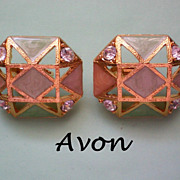 SALE Avon Geometric Clip Earrings