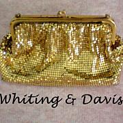 SALE Whiting & Davis Gold Mesh Bag / Purse
