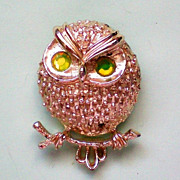 SALE Book Piece - Sarah Coventry Owl Pin