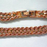 SALE Chain and Rhinestone Bracelet