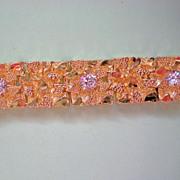SALE Large Gold Nugget Motif Bracelet
