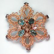 SALE Signed Scitarelli Flower Brooch or Pendant