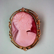 SALE Cameo Framed Lady Pin