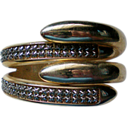 SALE Egyptian Revival Snake Clamper Cuff Bracelet