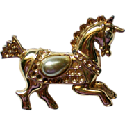 SALE Carousel Horse with Faux Pearl Saddle