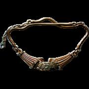 SALE Corocraft  Pat Pend Baguette Rhinestone Necklace