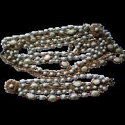 SALE Bezel Set Milk Glass Necklace & Bracelet