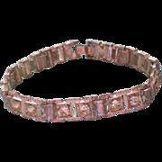 SALE Pot Metal & Paste Link Bracelet