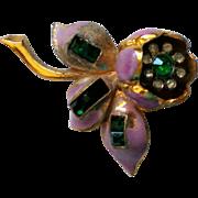 SALE Quivering Camilla Trembler Flower Fur Clip by Coro