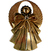 SALE Gold tone Metal Angel Pin