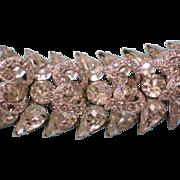 SALE Signed Eisenberg Rhinestone Bracelet