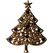 SALE Eisenberg Ice Christmas Tree Pin