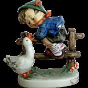"Hummel Figurine Boy and Goose titled ""Barnyard Hero"""