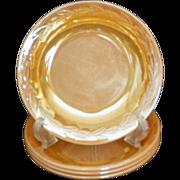 """SALE Fire King Peach Lustre Laurel Pattern 7½"""" Soup / Salad Bowls"""