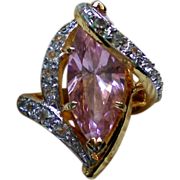 SALE Pink Quartz Cocktail Ring – Size 6