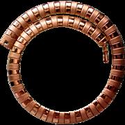 SALE Egyptian Revival Wide Bib Serpentine Necklace