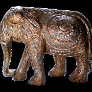 Brght Cut Metal Elephant Figurine