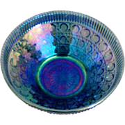SALE Large Carnival Glass Amethyst Bowl in Regal Cane Pattern