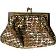 SALE Whiting & Davis Gold Mesh Coin Purse