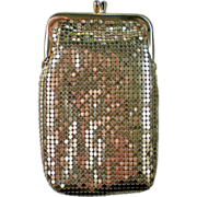 SALE Whiting & Davis Gold Metal Mesh Evening Bag or Cigarette Case