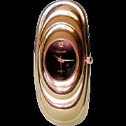 SALE Gruen Gold Tone Black Face Quartz Ladies Watch