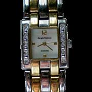 SALE Sergio Valente Ladies Diamond MOP Watch