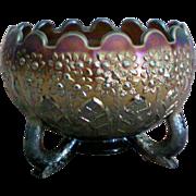 SALE Fenton's Flowers Nut Bowl Shape Footed Bowl