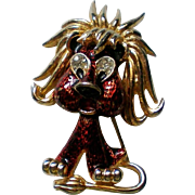 SALE Jonette Jewelry JJ Shaggy Lion Dimensional Pin