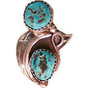 SALE Native American Turquoise Silver Ring