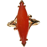 SALE Avon Orange Glass Stone Ring
