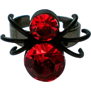 SALE Red and Black Widow Spider Halloween Ring