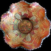 SALE Fenton Medium Amberina Grape Cluster Bowl