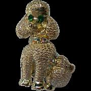 SALE Petite Golden Poodle Dog Pin