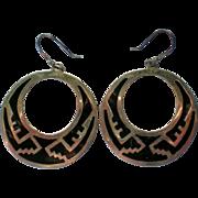 SALE Mexican Silver Pierced Hoops Earrings