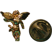 SALE Tiny Gold tone Angel Tie Tack or Lapel Pin