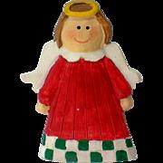 SALE Christmas or Holiday Angel Pin