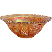 SALE Fashion by Imperial Large Carnival Glass Bowl in Merigold