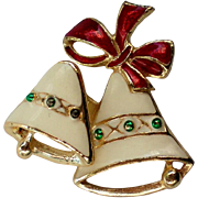 SALE SFJ Joyous Bells Trembler Christmas / Holiday Pin