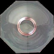 SALE Pink Depression Glass Octagon Cake Plate