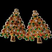 SALE Petite Christmas Tree Pierced Earrings