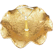 SALE 22 KT Gold Park Ave. China Weeping Gold Candy Dish
