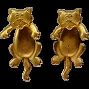 SALE Cat Earrings by Jonette Jewelry