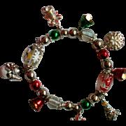 SALE Holiday Christmas Stretch Charm Bracelet