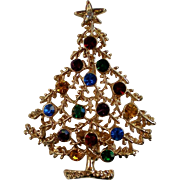 SALE Eisenberg Ice Christmas Tree Pin for the Holidays