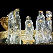 SALE German Crystal Nativity Scene Set by Gorham